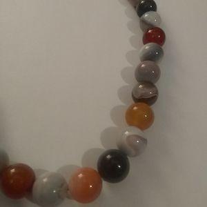 Jewelry - Strand of round semi-precious agate beads